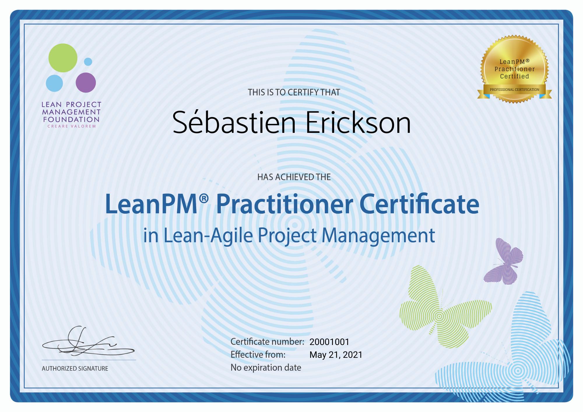 LeanPM Practitioner Certificate